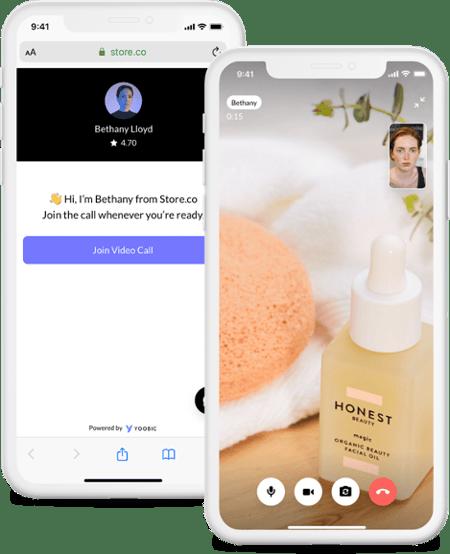 Virtual shopping appointment YOOBIC
