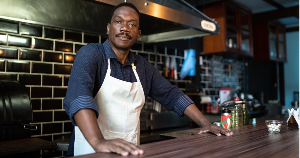 Confident barista
